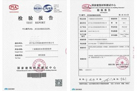 国家建筑材料测试中心检验报告